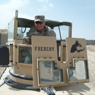 Frenchy in turret in Afghanistan 2009