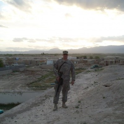 Frenchy on Russian Prison Roof in Caraba Afghanistan